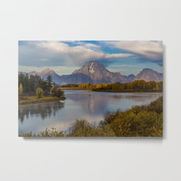 USA Grand Teton Nature Mountains Sky park Lake Forests landscape photography mountain Parks forest Scenery Metal Print