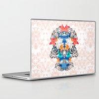 hawaiian Laptop & iPad Skins featuring Hawaiian Skull by Anis Illustration