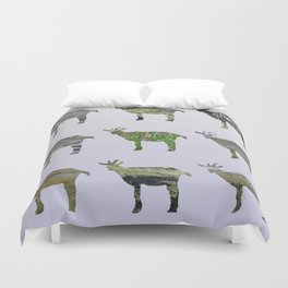 Ode to the Burren goats Duvet Cover