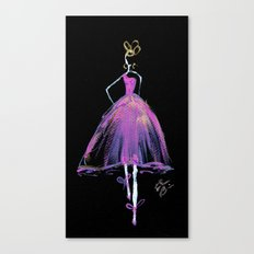 Hot Pink Fashion Illustration Canvas Print