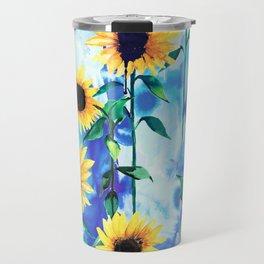 Sunflower Sky Travel Mug