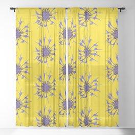Thin blue flames Sheer Curtain