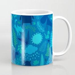 PNW Forest in Bay Blue Coffee Mug