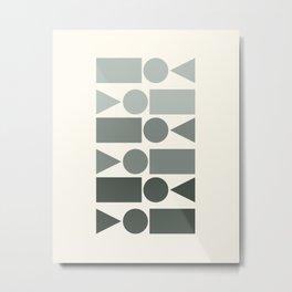 Ombre Shape Pattern Metal Print