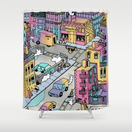 Tiny Town Shower Curtain