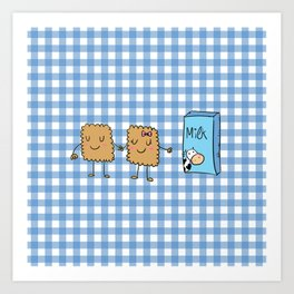 Cookies and Milk Art Print