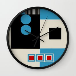 Abstract in Blue, Black, Red and Beige. See Companion Piece Wall Clock