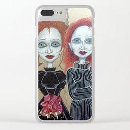 Doppelgänger Clear iPhone Case