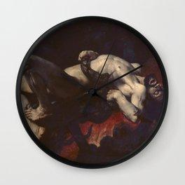 Jules-Élie Delaunay - Ixion precipite dans les Enfers Wall Clock