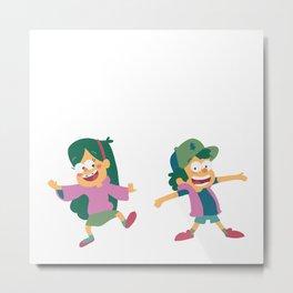 Mabel and Dipper Metal Print