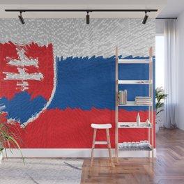 Extruded flag of Slovakia Wall Mural