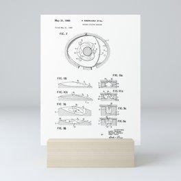Rotary Pistol Engine Vintage Patent Hand Drawing Mini Art Print