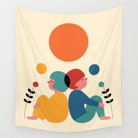 60s Wall Tapestries featuring Miss you by Andy Westface