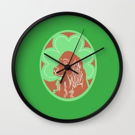 Irish Setter with Shamrock Wall Clock