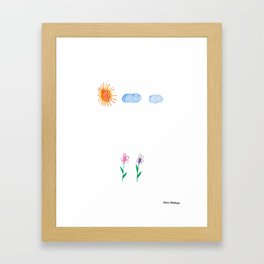 Flower Pals Framed Art Print