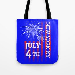 New York City 4th of July Independence Day Tote Bag