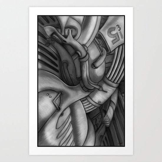 abstract techXpressionism No. 2 Art Print
