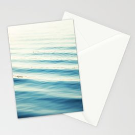 Ocean Waves Blue Photography, Aqua Water Sea Seascape Photo, Teal Beach Coastal Abstract Waves Stationery Cards