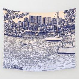 Charles River Esplanade Wall Tapestry