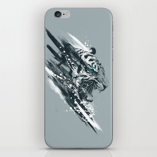 white tigra iPhone Skin