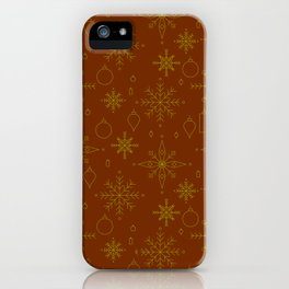 Golden Holiday iPhone Case