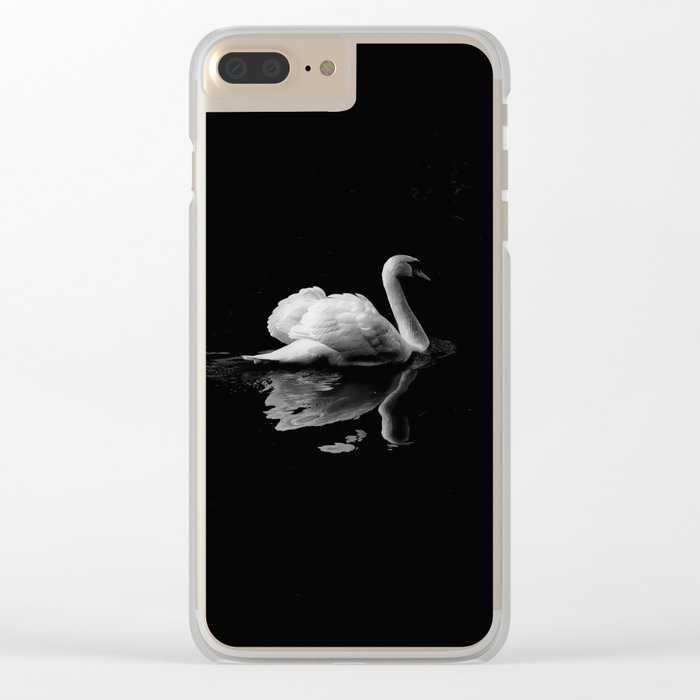 WHITE - SWAN - ON - BODY - OF - WATER Clear iPhone Case