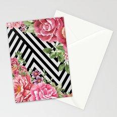 flowers geometric Stationery Cards