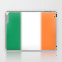 Green White and Orange Ombre Shaded Irish Flag Laptop & iPad Skin