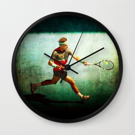 Nadal Tennis Forehand Wall Clock