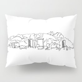 El Paso Skyline Drawing Pillow Sham