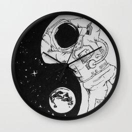 Yin Yang Universe Wall Clock
