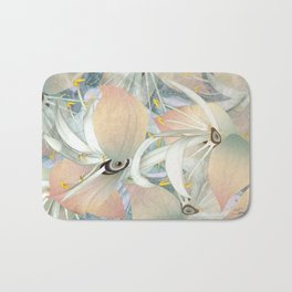 Planet of Flowers Abstract Bath Mat