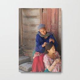 The Streets of Kathmandu Metal Print