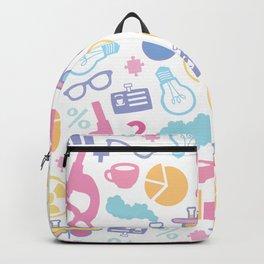 Pastel Science Pattern Backpack