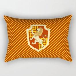 HP Striped Gryffindor house crest Rectangular Pillow