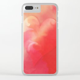 Heart pink smoothie Clear iPhone Case