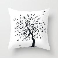 clear Throw Pillows featuring Clear by zabalza