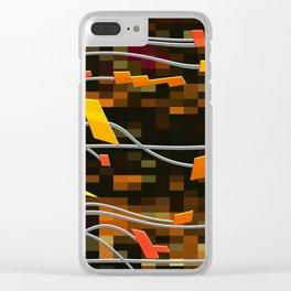 digital trails Clear iPhone Case