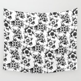 trad flowers Wall Tapestry