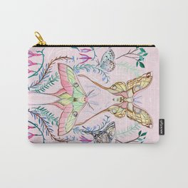 Chinese Moon Moth and Butterflies Carry-All Pouch