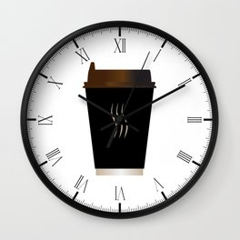 Paper Coffee Cup Wall Clock