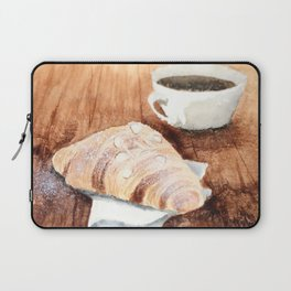 Croissant and Coffee Laptop Sleeve