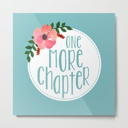 One More Chapter -Baby Blue Metal Print