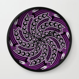 Wind Spirit (Purple) Wall Clock