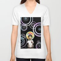 bubble V-neck T-shirts featuring Bubble by Samy-Consu