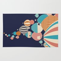 balloons Area & Throw Rugs featuring Balloons by Jay Fleck