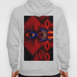 Ruby Abstract Stained Glass Window Hoody