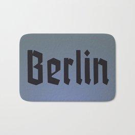 Berlin Fracture Font Bath Mat