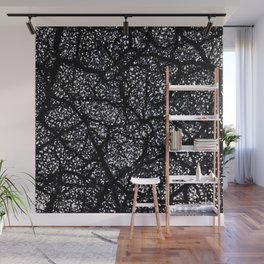 Black and White Dark Abstract Texture Print Wall Mural