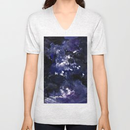 galaxy in blue Unisex V-Neck